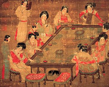 dinastia chinesa tang chow chow debaixo da mesa